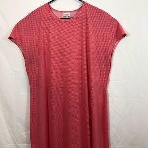 Lula Roe Pink Dotted Sleeveless Dress 3X